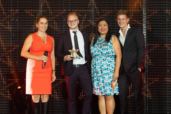 CTI Digital collecting Big Chip Award