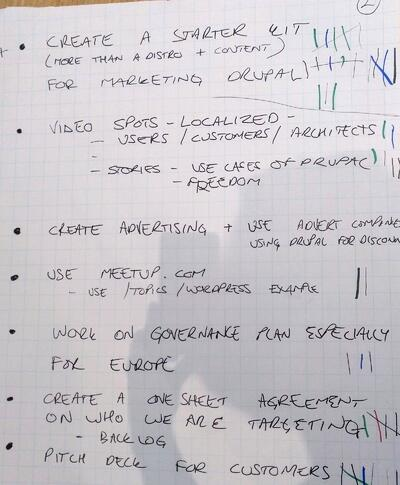 Brainstorm Notes from Drupal Europe Roundtable