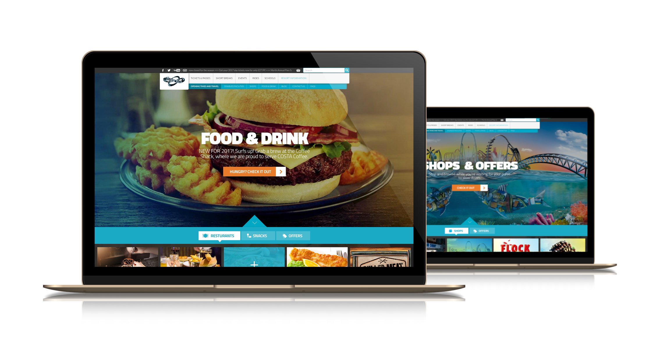 Thorpe Park Website