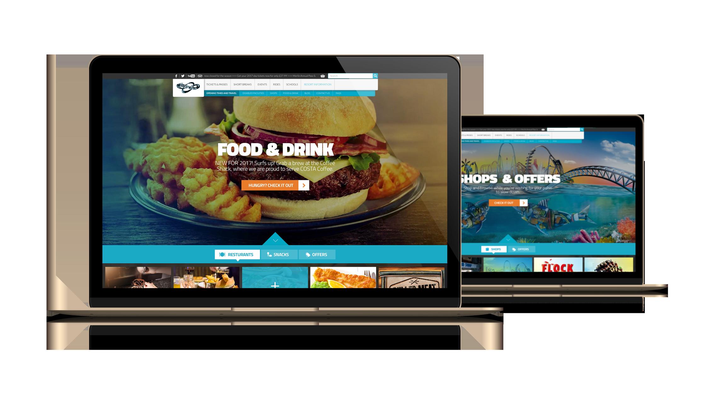 Thorpe Park Website
