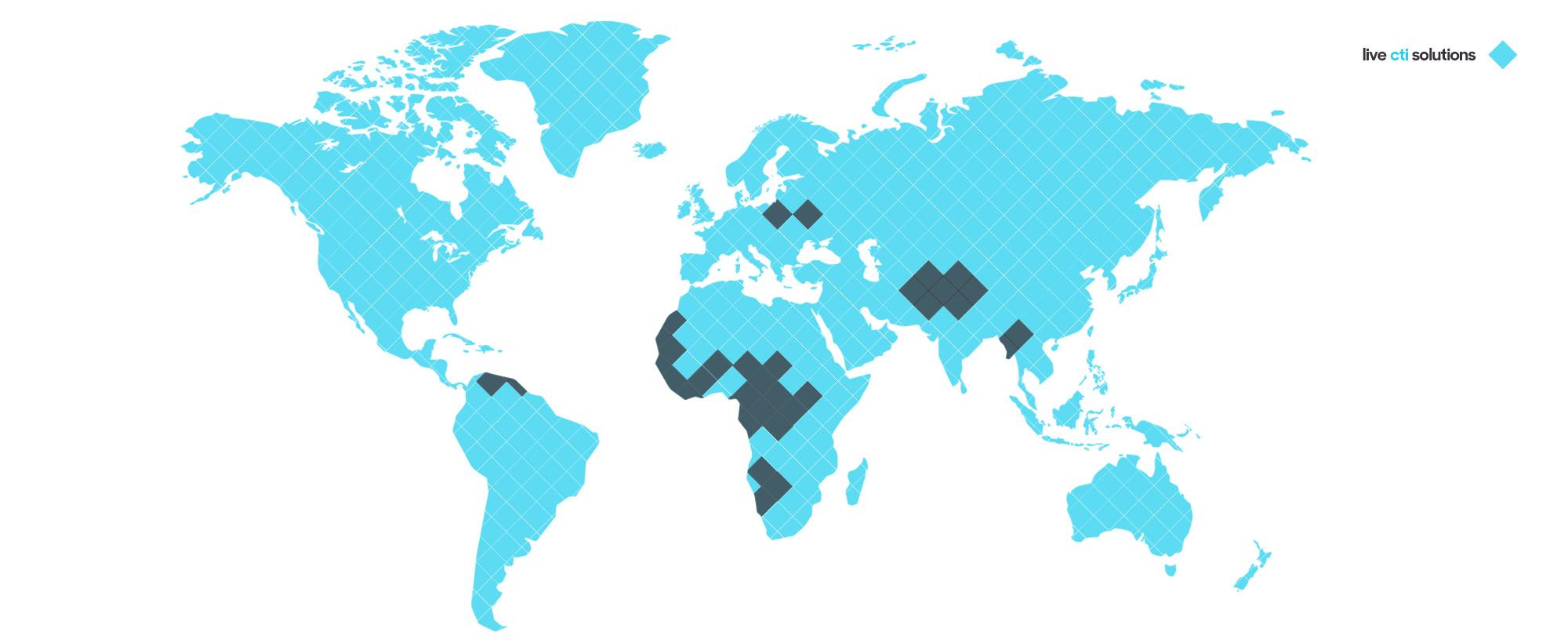 Live CTI Solutions - World Map