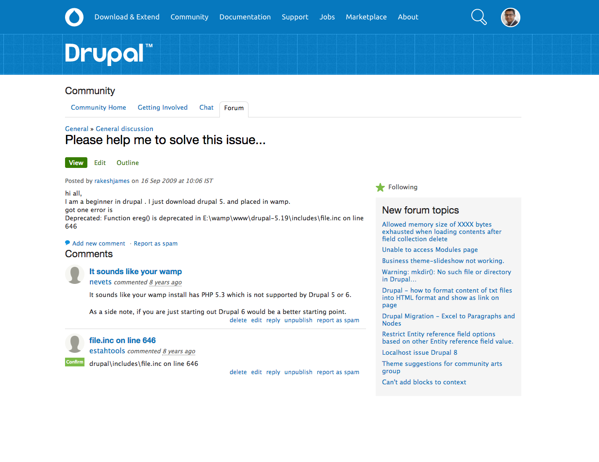 Rakeshs first drupal question