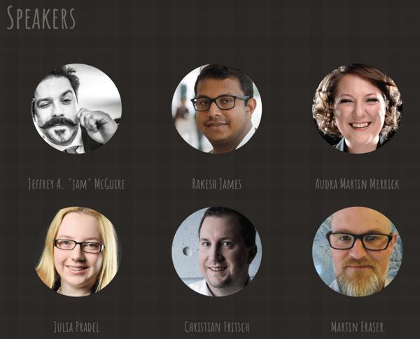 Speakers at DrupalCamp Scotland 2018