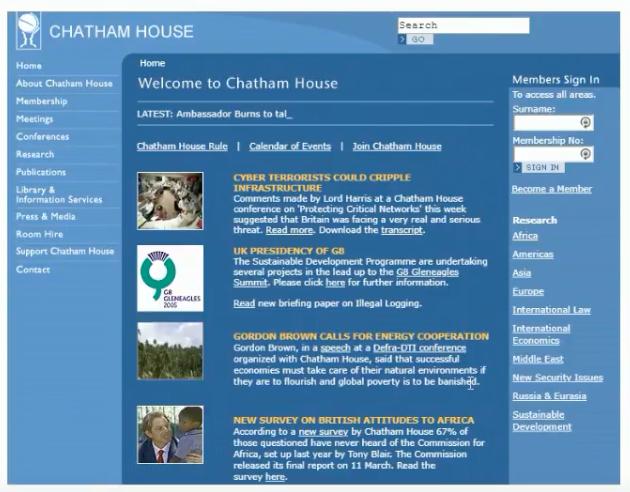 Former Chatham House Website 2004