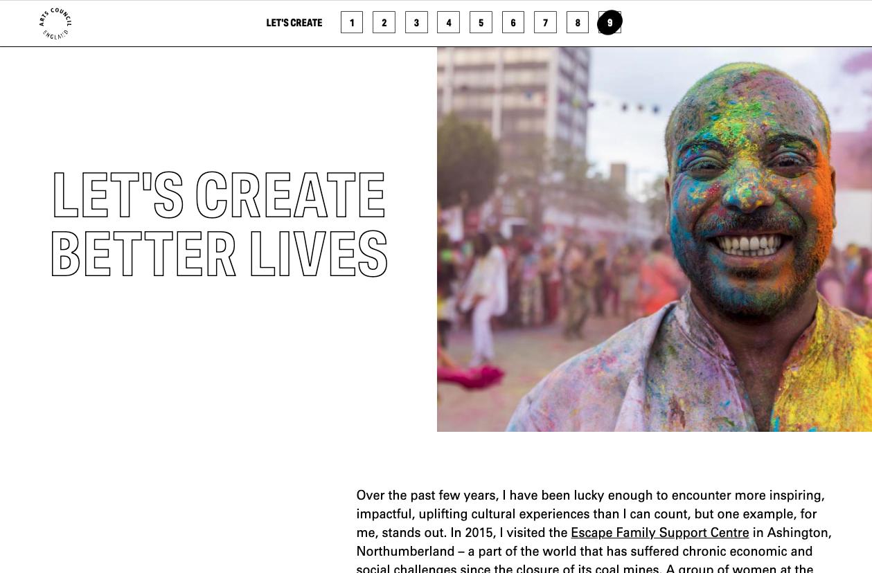Arts Council 'Lets' Create' Website