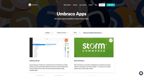 Umbraco Apps