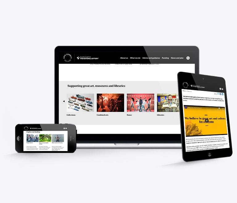 Arts Council Website Navigation