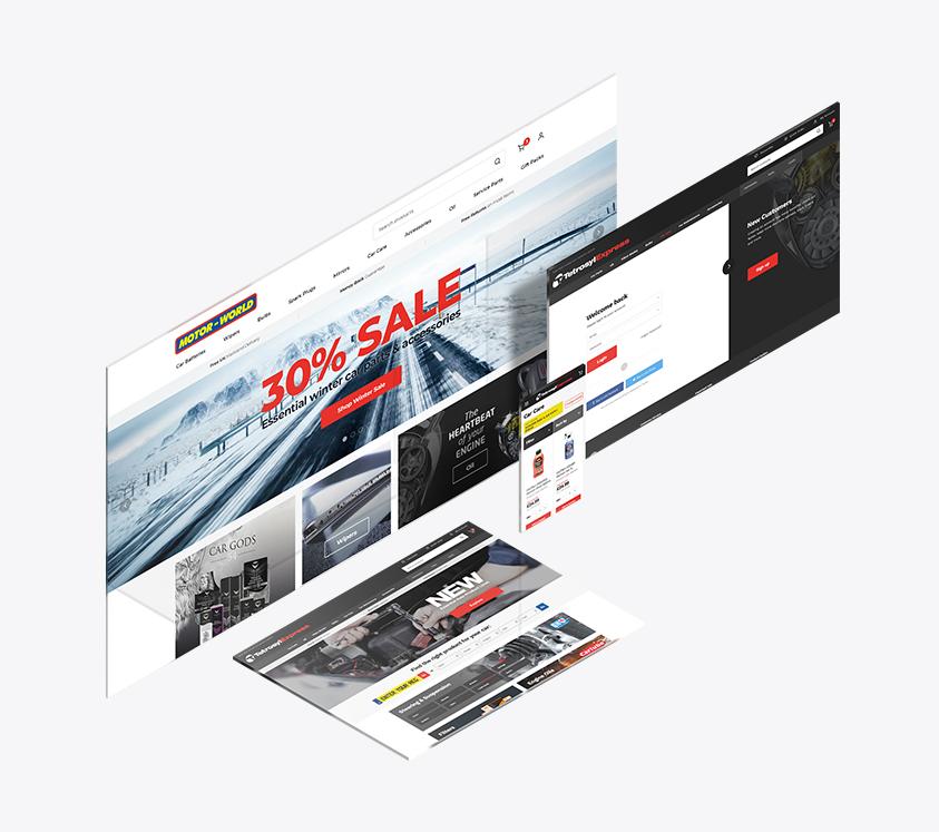 Motor World Website Design Preview