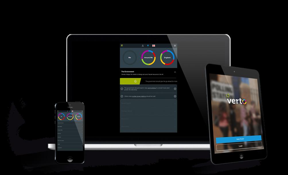 Bite the Ballot Verto online app