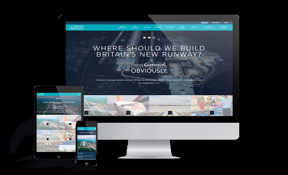 London Gatwick Obviously website
