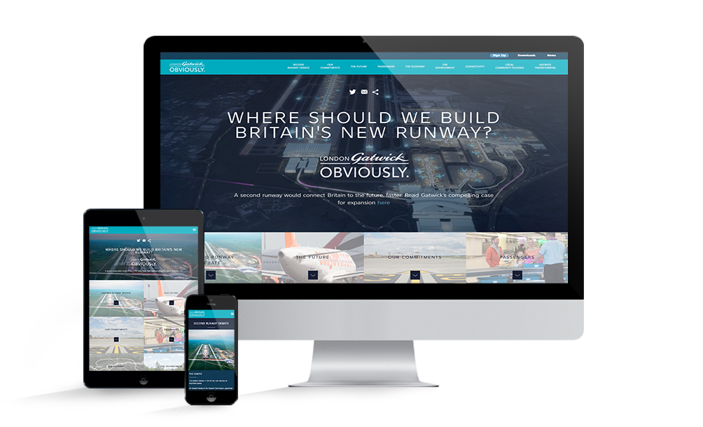 London Gatwick Obviously website