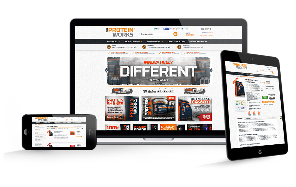 The Protein Works website